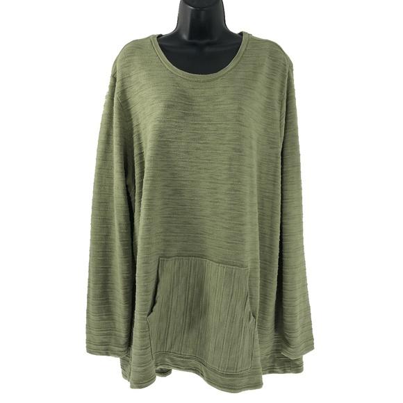 55ae8b07f73 J. Jill Tops - J. Jill 3X Sweater Top Green Kangaroo Pocket